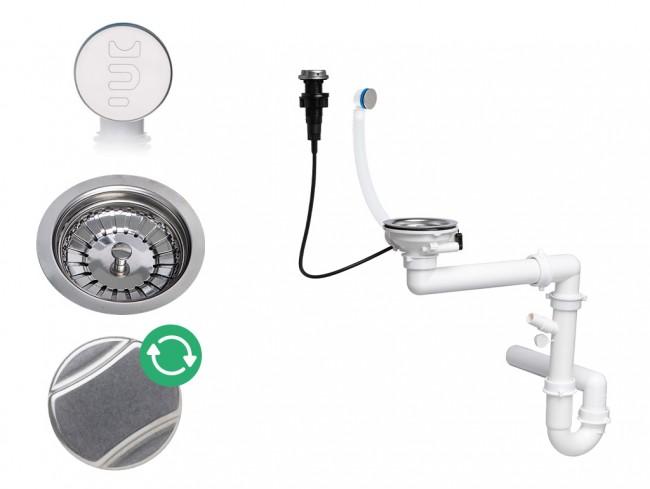 Der automatische Raumsparsiphon für Spüle mit verstecktem Überlauf