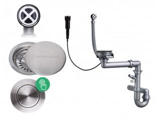 Der automatische Pop-up Raumsparsiphon für Spüle + Abflussdeckel aus Edelstahl