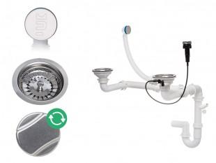 Der automatische Raumsparsiphon für Doppelspüle mit verstecktem Überlauf